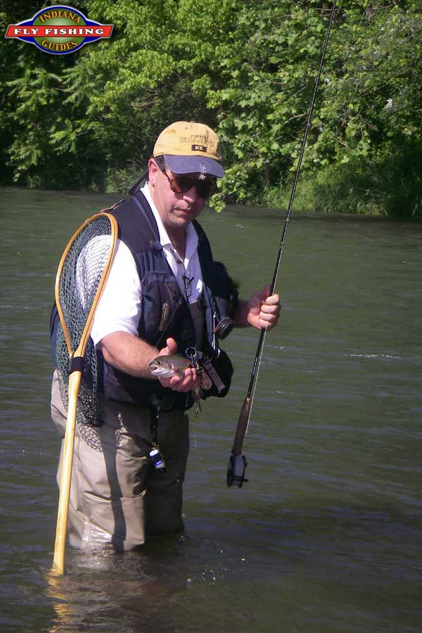 Fly fishing along the bank of the west fork of the dolores for Fly fishing indiana
