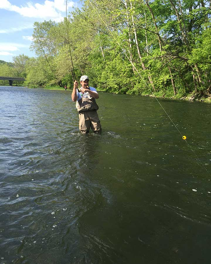 Indiana's Brookville Tailwater trout fishing