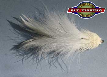 Conrad Sculpin streamer in white imitate shad and other light colored baitfish