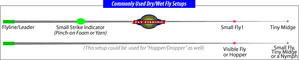 Dry fly wet fly rigging