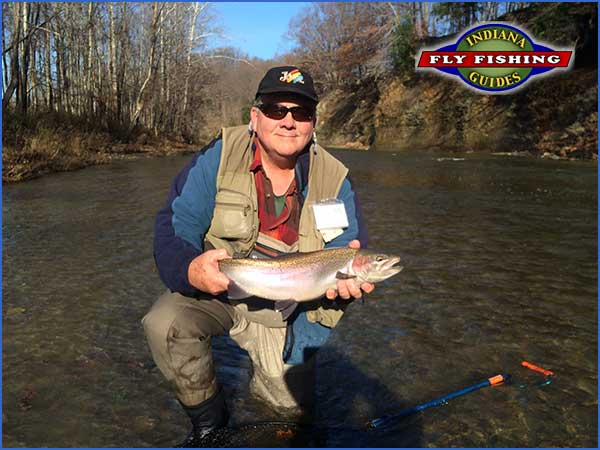 Jeff Conrad with an Erie Steelhead