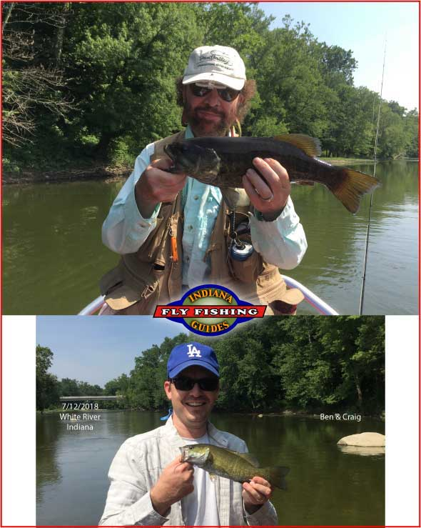 White River fly fishing in Indiana