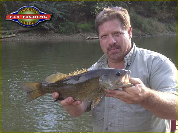 Ed Devine with a big smallmouth from Indiana's White river
