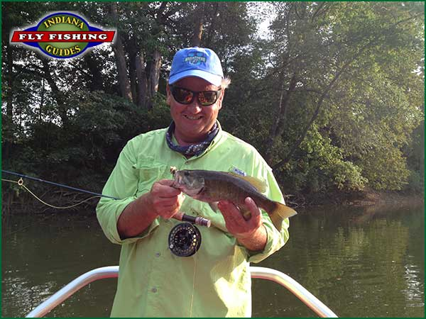Joe Mahler smallmouth fishing in Indiana