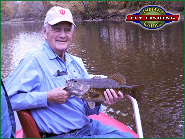 Karl Glander with an Indiana Smallmouth Bass