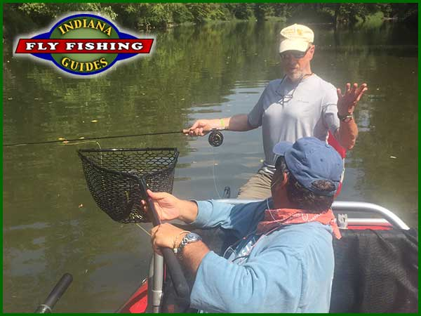 Joe Mahler and Joe Smith flyfishing Indiana's White River